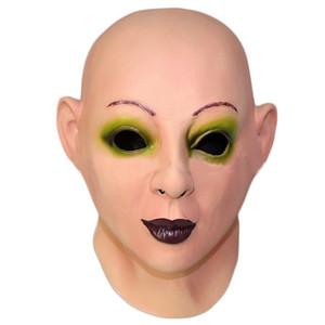Реалистичное женское лицо лицо Sissy латексная маска Scarlet Bald Human Face Party маскарадный костюм маска