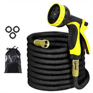 Expandable Garden Watering Kit Magic Hose Flexible Water Hose Set High Pressure Pipe Plastic Hoses Watering Lawn With Spray Gun T200530