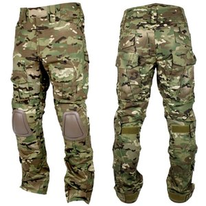 Tactical BDU Pants Multicam Camouflage Men Hunting Pants Camo Knee Pads Sniper Paintball Army Combat Trousers