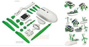 Energia solare 6 in 1 giocattoli Toy Kit fai da te Educational robot crogiolo di automobile Dog Fan Aereo cucciolo