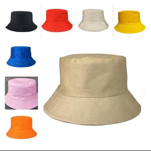 Fisherman Leisure Bucket Hats Solid Color Fisherman Hat Wide Brim Summer Cap Sunshade Caps 8 Colors BBA11