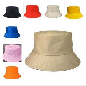 Pescador de ocio Sombreros Del Cubo color sólido Pescador sombrero de los casquillos del verano del borde del casquillo de la sombrilla 8 colores BBA11