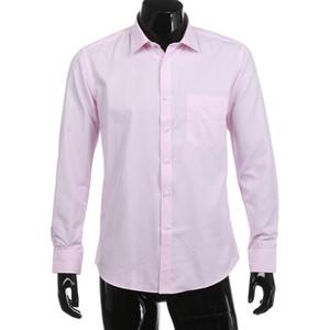 Neue Männer Kleid Solide Twill Langarm-Shirt gestreifte Shirts formale Geschäfts-Tops Camisa Masculina Slim Fit Camicia Uomo 20
