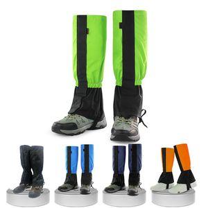 Viajes pierna cubierta impermeable unisex Legging polaina de excursión que acampa Bota de esquí Snow Shoe Caza Escalada polainas Nueva prueba de viento
