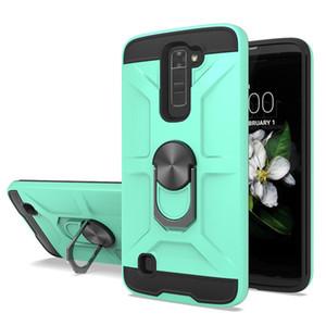 Custodia protettiva Dual Layer telefono per Moto g stilo g potenza G8 PLUS LG K51 Stylo 6 / K30 2019 con l'anello