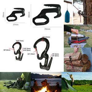 Outdoor carabiniere in lega di alluminio di sopravvivenza fibbia di chiusura moschettone portachiavi lavora il tipo B con corda accessori