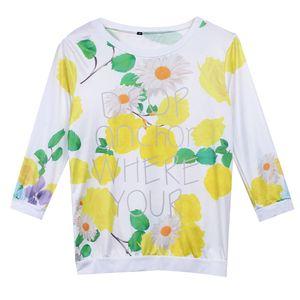 Yeni Gelenler Moda Sıcak kadın Seksi Yaz Çiçek Rahat Gömlek Tops Gevşek T Gömlek Sıcak Satış Şık Bayanlar Tee