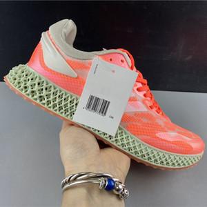 Adidas Alphaedge 4D Run 1,0 Signal Coral Branco caçoa a menina Big Boy Homens Mulheres Youth White Men Running Shoes Casual Sneakers FW6838