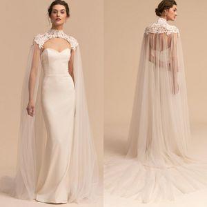 robes de mariée sirène sweetheart avec la cape 2020 dos nu pleine longueur plage robes de mariée mariage bohème