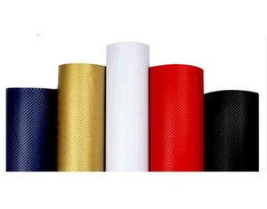 10pcs 127 centimetri * 20cm 3D Color Modifica Film Car Interior Whole Vehicle cambiamento di colore del cambiamento Pasta colore Sticker in fibra di carbonio