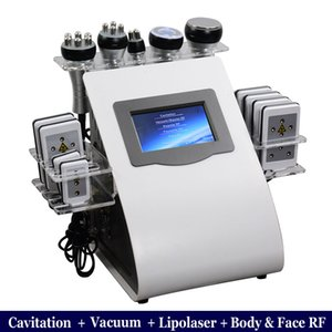 6 일 초음파 공동 현상 기계 40K 초음파 Cavitation Lipolaser RF 진공 슬리밍 체중 감소 CAVI 리포 슬리밍 장비