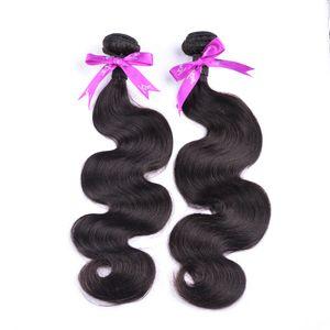 Unprocessed Malaysian Virgin Hair Body Wave 4 Bundles 100g pcs Cheap Malaysian Body Wave Hair Bundles 100% Raw Human Hair Weave DHL Shipping