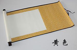 A6 Çin kaligrafi malzemeleri boş hat boyama kaydırma asılı kaydırma yarı pişmiş ipek Xuan kağıdı hat kaydırma taklit