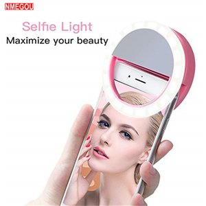 Universal Beauty Selfie Ring Flash Fill Light Clip with 36 LED Portable Phone Selfie for IPhone Lg Lens Camera Photography Live