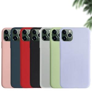 Givré téléphone mobile pour iPhone X XS 11 Pro Silicone Soft Shell Place Pure Color Cellphones Cas multi Styles 1 5yx H1