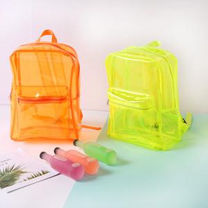 Pvc umhängetasche kunststoff pinky farbe verhindern wasser rucksack multi farben gelee transparent rucksack neue ankunft 16 8sd l1