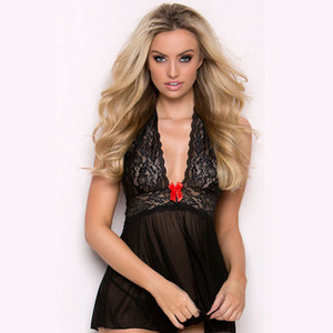 Mujeres Sexy Sissy Lingerie Lace Babydoll.G-String Tanga Ropa interior Ropa de dormir Sexy Lingerie Lace Babydoll.G-String Tanga Ropa interior Ropa de dormir