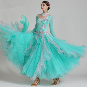 Profesyonel Yüksek Kalite Kadınlar Kız Rekabet Ballroom Dans Elbise