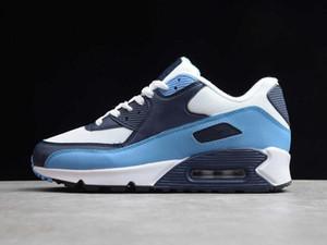 Mens Wesentliche UNC Sport Designer Schuhe Weiß Pure Platinum Universität Blue Midnight Navy Mode Chaussures Trainer kommen mit Kasten