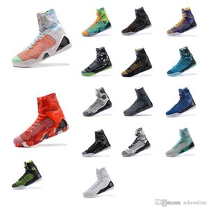 Pas cher Hommes KB9 Bryants 9 IX élite hautes chaussures de basket-ball ZK9 Noël Rouge Noir Blanc Bleu Gris BHM chaussures de sport de Pâques bottes à vendre