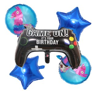 64*40CM Fortnite balloons Fortnight 18inch Fort nite Game Video Game Controller Aluminum Film ballons New Year Party Xmas halloween baloons