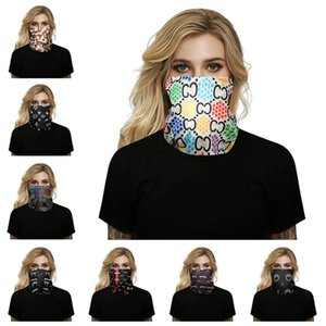 High quality Fashion women fashion mask silk Cycling Bandanas Quick-dry Masks designer silk scarf Washable Face Mask