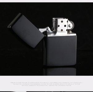 Neuer Ankunfts-Feuer Retro Lighter Metall schwarz mattiertes windundurchlässiges Fackel Metall Zigarettenanzünder Rauchen Brennstoff Feuerzeug Zigaretten-Etui