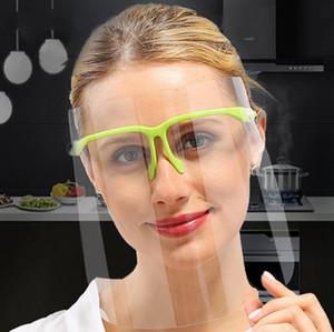 Transparent sécurité Visage Bouclier plein visage avec protection Lunettes masque couverture anti-buée couche Se protéger les yeux Visor DDA82