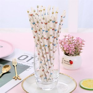 Funny Straws Cartoon Party Drink Straws Disposable Paper Drinking Straws for Children 25 Pcs a Lot