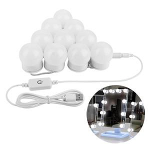 할리우드 스타일 LED 허영 미러 조명 키트 디 밍이 가능한 전구, 메이크업 화장 대를위한 조명기구 스트립 객실 탈의실 세트