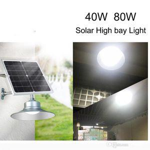 High Brightness Solar High Bay Lamp Aluminum SMD5730 IP65 40W 80W High Bay Light with remote light control