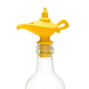 Vertedor de aceite y aceite de silicona tapón Pitorro de la botella de aceite de oliva tapón Enchufe de la botella Tapa tapón de la botella LJJK1827
