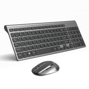 저렴한 콤보 JOYACCESS 러시아어 무선 키보드 세트 인체 공학적 마우스 PC Mause 자동 버튼 키보드 및 마우스 콤보 2.4G에 대한