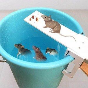 Trampa jardín jardín de DIY Plagas controlador Rata finalización rápida del balancín ratón Catcher cebo Inicio Rata trampas de ratón de plagas Trampas Ratones