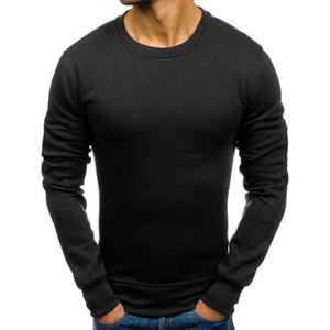 Männer Herbst-Winter-T-Shirts Männer Slim Fit O-Ausschnitt Langarm-Muskel-T-Shirts Casual man festes sofe Hemdchen Spitzenkleidungs