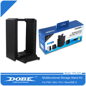 Dobe Multifunctional Disk Storage Stand Kit with DS4 Controller Charging Dock for Playstation 4 PS4 Pro Slim XBOX ONE S