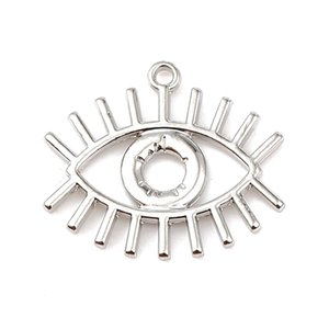 DoreenBeads Fashion Zinc Based Alloy Charms Eye Gold silver color Jewelry DIY Findings Charms 26mm(1