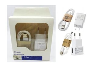 2 in 1 Charger Kits EU US Plug Wall Charger Adapter Home travel adapter +80cm Micro usb cable with Retail package Box For Samsung S5 S6 LG