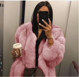 معطف المرأة الصلبة لون حار بيع السيدات معطف الشتاء مع الأزياء الرقبة جولة سترة بأكمام طويلة بالإضافة إلى حجم الملابس S-5XL