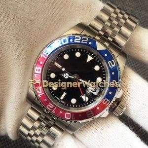 Lüks Erkek Tasarımcı 126710BLRO-0001 Kırmızı Mavi Titanyum Çerçeveyi Saatler 24 Saatler Mekanik Otomatik İzle 316L Paslanmaz Çelik saatı