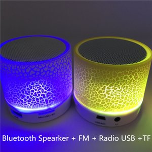 Mini Bluetooth Speaker Wireless LED Dancing Music Audio Speaker Support TF Card Stereo Sound FM Radio Speakers For Ihone Xiaomi