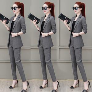 Haute couture Women clothing autumn two piece set Women's leisure suit Clothes set for office Classic coat + pants Boutique 4068