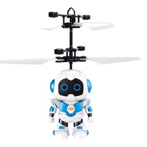 NEW 유도 비행 장난감 지능형 로봇 비행 요정 어린이 장난감으로 빛나는 수정 구슬 헬기 유도 평면을 일시 중단