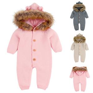 الوليد الرضع طفل رضيع فتاة محبوك الشتاء رومبير بذلة تتسابق ملابس عادية ملابس terno دي escalada # 30MX190912