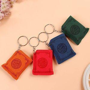 4 Farben Mode Schlüsselanhänger Mini islamischer Muslim Ark Quran-Buch Schlüsselanhänger Charm Keychain Auto-Beutel-Anhänger Religiöser Schmuck Gifty freies DHL M177F