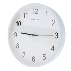 Easy to Read Large Silent Wall Clock Battery Powered Analog Wall Clock for School Home Office Outdoor Indoor, Metal Frame & Glass Surface