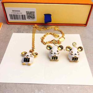 LBD Designer Earrings Necklace Mouse earrings set Stud Earrings Year Rat Luxury Jewelry 925 Sterling Silver for Women's High Jewelry Chr