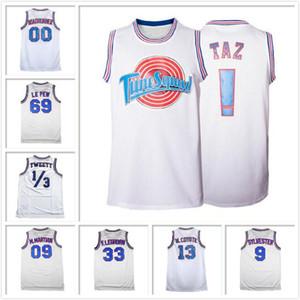 Space Jam Tune Squad Looney Tunes Collection pallacanestro Jersey Movie T-shirt TAZ ROADRUNNER TWEETY M.MARTIAN SYLVESTER LOLA Men
