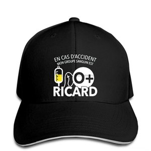 En Cas D Accident Hats & Caps Hats, Scarves & Gloves Mon Groupe Sanguin Est O Ricard Baseball cap Character Great Baseball cap Kawaii Hipho