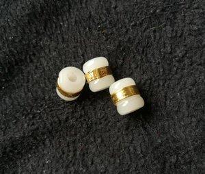Oro con incrustaciones de jade y Tian Yu Road Road pase colgante de jade blanco transferencia de cuentas DIY perlas sueltas envío gratis C1
